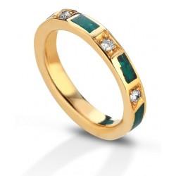 Fede Eoliana lusso smeraldi brillanti