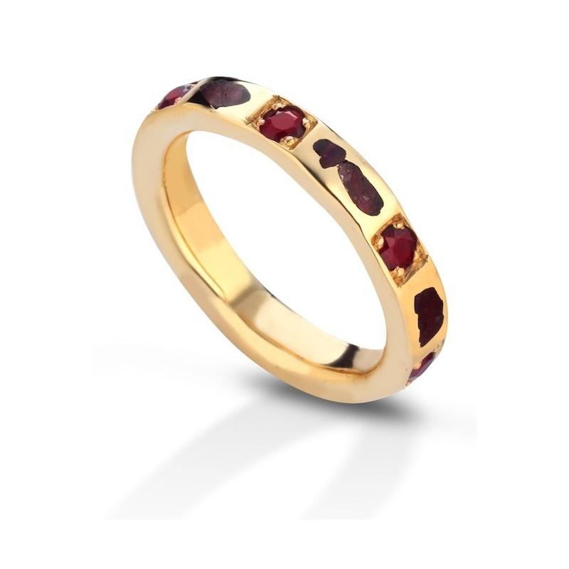 Aeolian ring luxury rubies