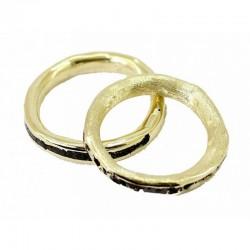 Sabbiatura di un anello