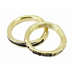 Sabbiatura di due anelli