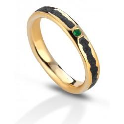 Fede Eoliana con smeraldo