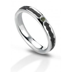 Aeolian ring black diamond