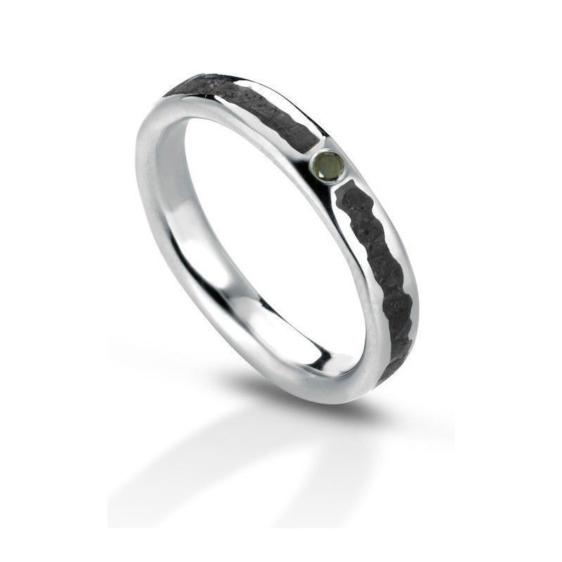 Aeolian ring black diamond